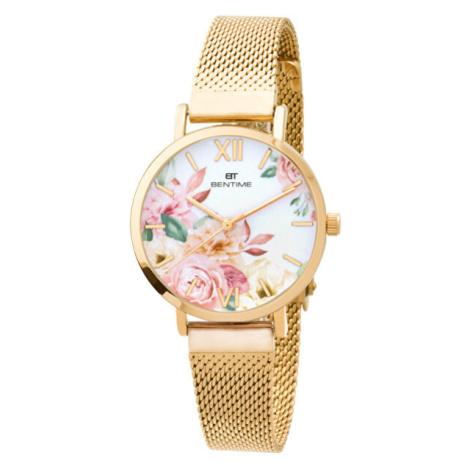 Bentime Dámské květinové hodinky 008-9MB-PT610119B