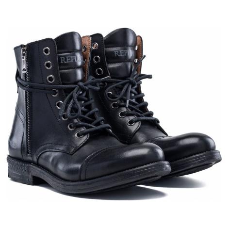Replay Footwear Černé boty boty černá