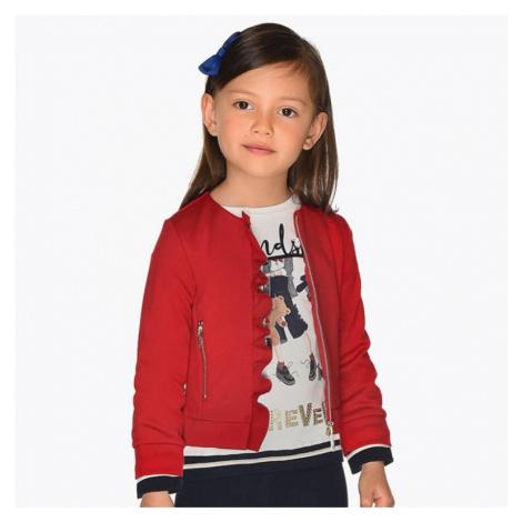 Dívčí červená mikina Mayoral 4425 | červená