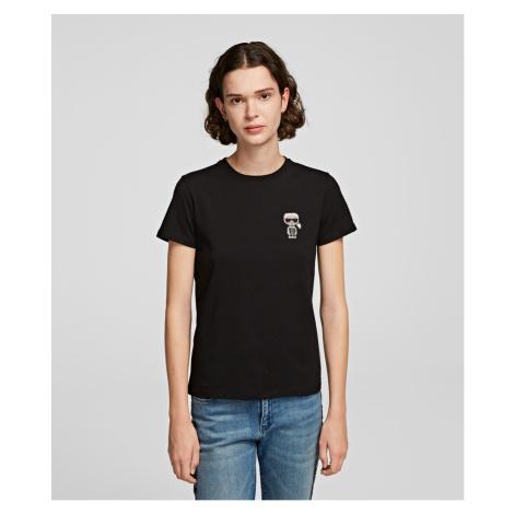 Tričko Karl Lagerfeld Ikonik Mini Karl Rs T-Shirt - Černá