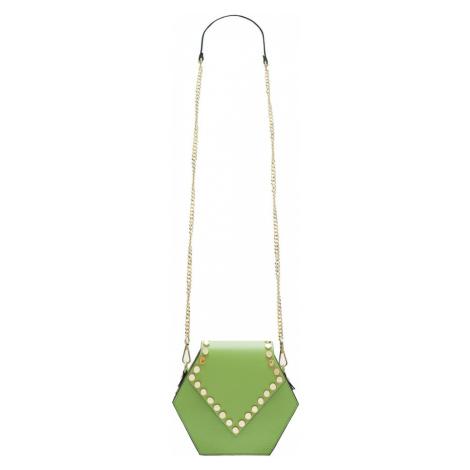 Dámská kožená crossbody kabelka asymetrická - zelená Glamorous