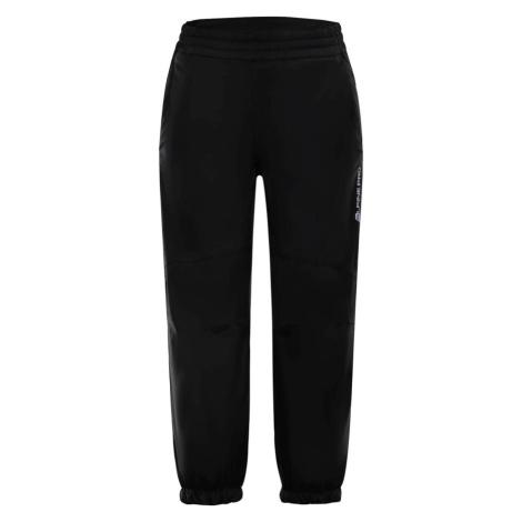 ALPINE PRO TISBE 2 INS. Dětské zateplené softshellové kalhoty KPAM095990 černá