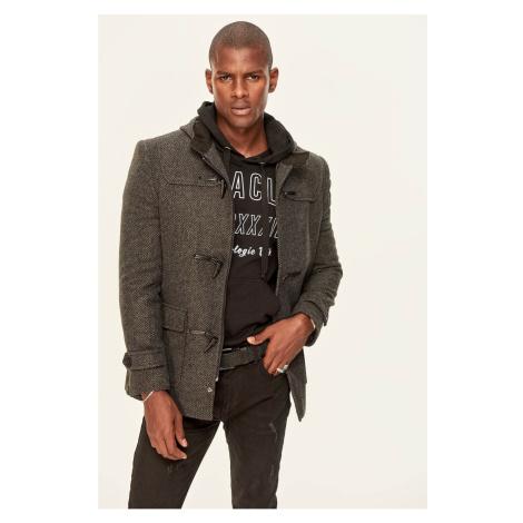 Trendyol Black Wool Coat-Shepherd-Button