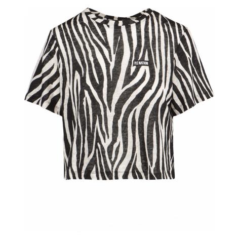 Tričko P.E Nation REMATCH TEE bílá|vzorkování|černá
