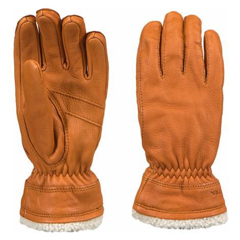 Lyžařské rukavice Hestra DEERSKIN PRIMALOFT LADIES hnědá