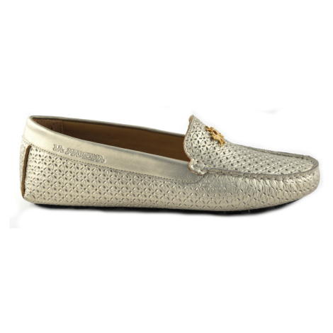 Mokasíny La Martina Woman Moccasin Perforate Laminate - Žlutá
