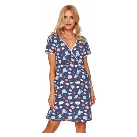 DN Nightwear Mateřská košile Kristina mráček modrá