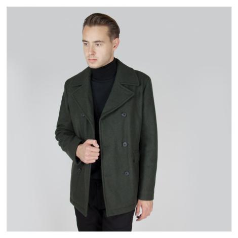 Vlněný zelený kabát New Mercer Selected