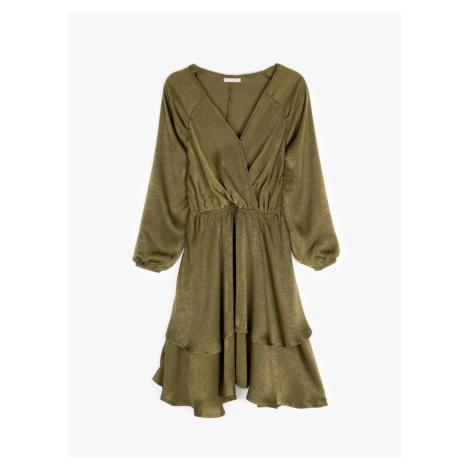 GATE PREMIUM COLLECTION: Saténové šaty s volánem