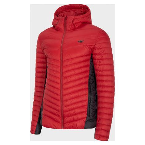 Pánská prošívaná bunda 4F KUMP202 Červená