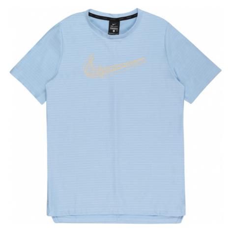 NIKE Funkční tričko světlemodrá / jasně oranžová