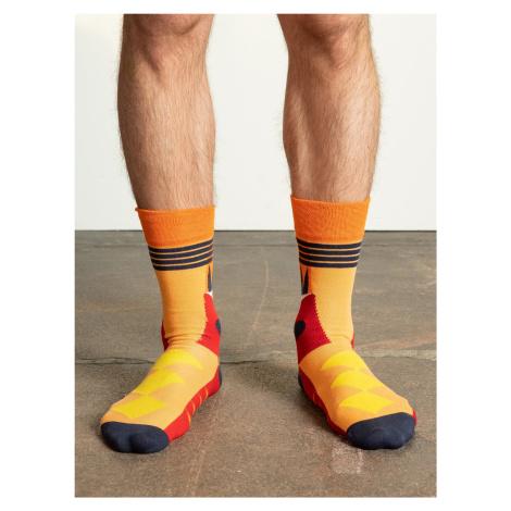 Oranžové pánské bavlněné ponožky FPrice