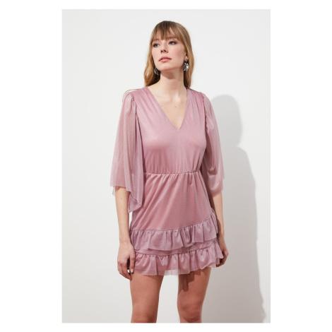 Trendyol Rose Dry Ruffl Detailed Dress