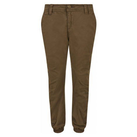 Boys Stretch Jogging Pants - olive Urban Classics