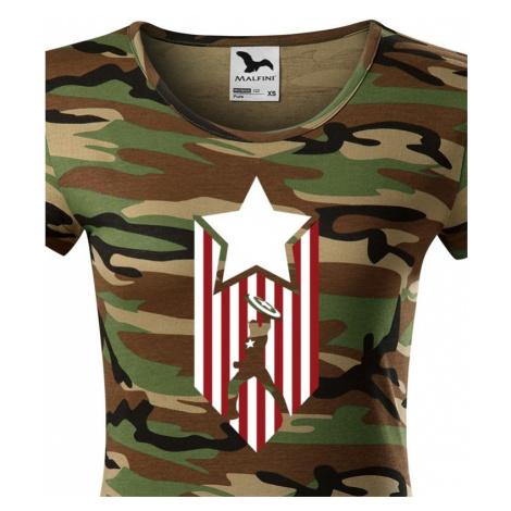 Dámské tričko s potiskem Kapitán Amerika - Captain America BezvaTriko
