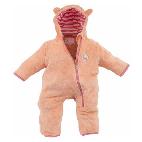 overal dětský fleezový chlupatý, Pidilidi, PD1095, oranžová