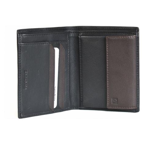 Samsonite pánská peněženka kožená NYX 3 jednoduchá černo-hnědá, 10 x 1 x 12 (87966/1041)