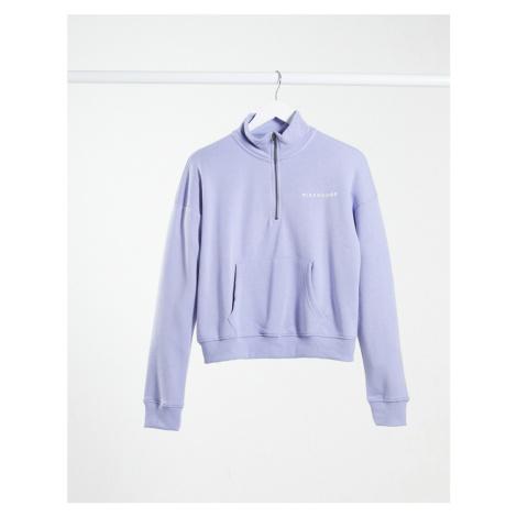 Missguided co-ord half zip sweatshirt in blue