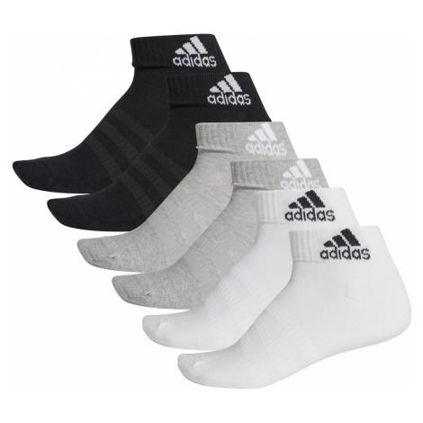 Ponožky adidas Cushioned Ankle Šedá / Bílá