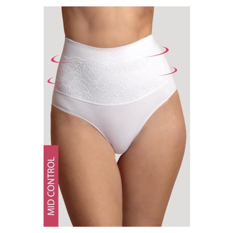 Stahovací bavlněné kalhotky Dominika bílá