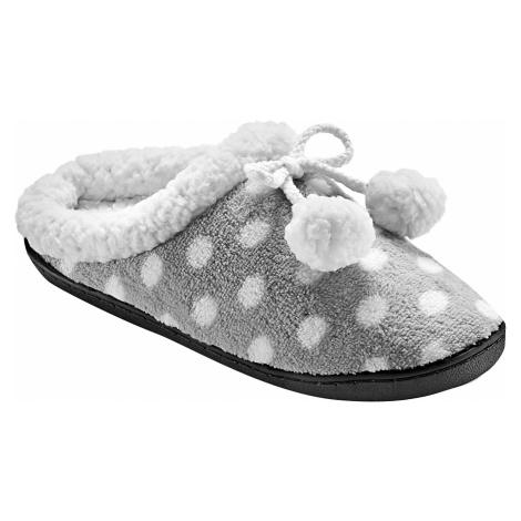 Blancheporte Fleecové pantofle s potiskem šedá