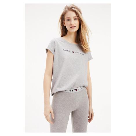 Tommy Hilfiger šedé tričko RN Tee SS Logo Basic