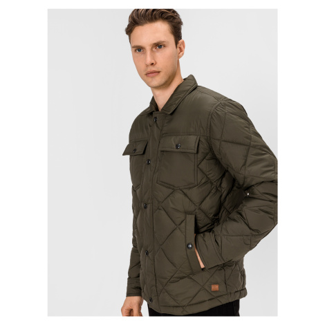 Workwear Quilted Bunda Jack & Jones Zelená