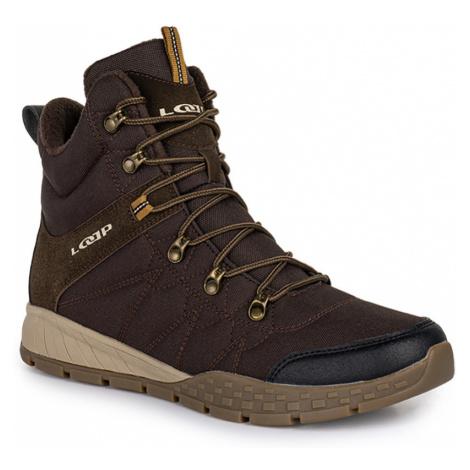 LOAP BASIN Pánské zimní boty HSM20216R05R hnědá