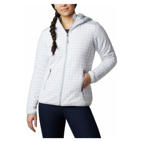 Mikina Columbia Winter Pass™ Print Fleece Full Zip W - bílá/šedá
