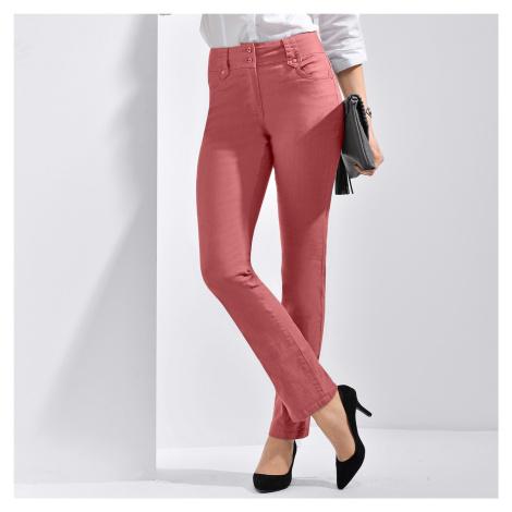 Blancheporte Rovné kalhoty s vysokým pasem, malá postava terakota