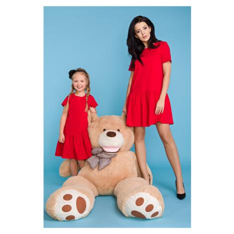 Dětské Letní šaty princezniny dívčí s krátkým rukávem a volánkem
