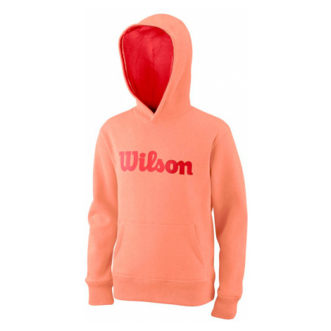 Dětská mikina Wilson Cotton PO Hoody Papaya