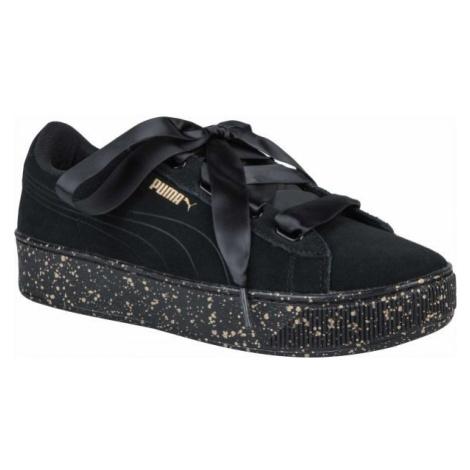 Puma VIKKY PLATFORM RIBBON černá - Dámská volnočasová obuv