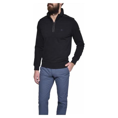 Čierny bavlnený pulóver Alain Delon