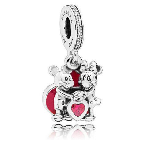 Pandora Romantický přívěsek Láska Mickeyho a Minnie 797769CZR