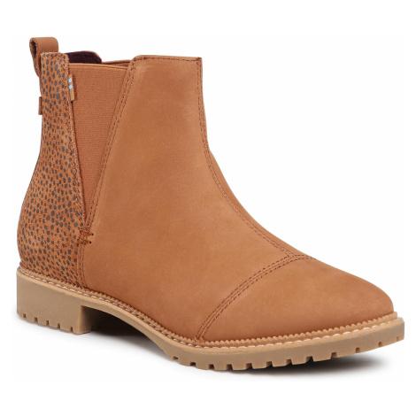 Kotníková obuv s elastickým prvkem TOMS - Cleo 10015852 Oiled Nubuck/Mini Cheetah