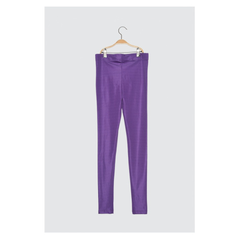 Trendyol Purple Gloss Knitted Tights