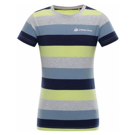 Dětské triko Alpine Pro PENSIERO 4 - modro-žlutá