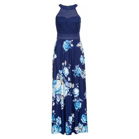 Letní šaty s květovým vzorem a krajkou Bonprix
