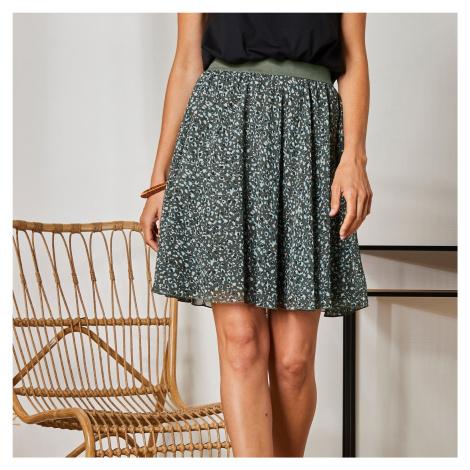 Blancheporte Krátká sukně s minimalistickým vzorem bronzová