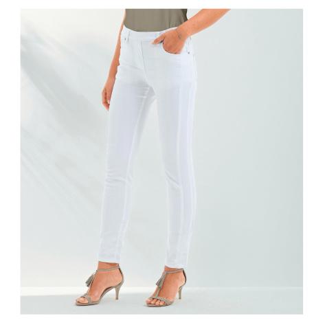 Blancheporte Strečové kalhoty bílá