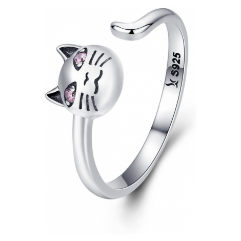 OLIVIE Stříbrný prsten KOČKA 3408