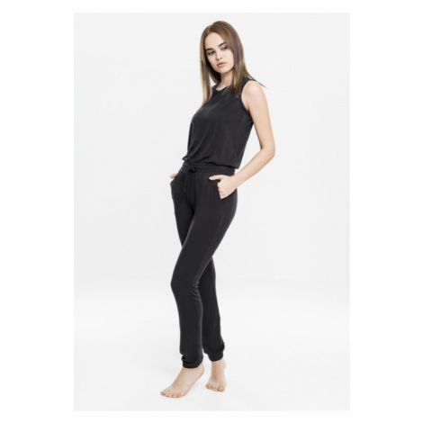 Urban Classics Ladies Tech Mesh Long Jumpsuit black