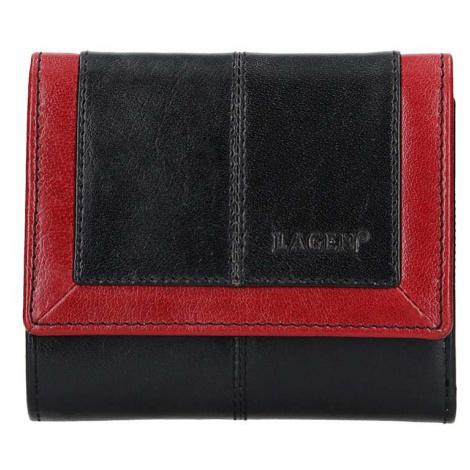 Lagen Dámská peněženka kožená BLC/4391 Černá/červená