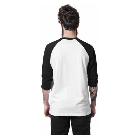 Contrast 3/4 Sleeve Raglan Tee - white/black Urban Classics