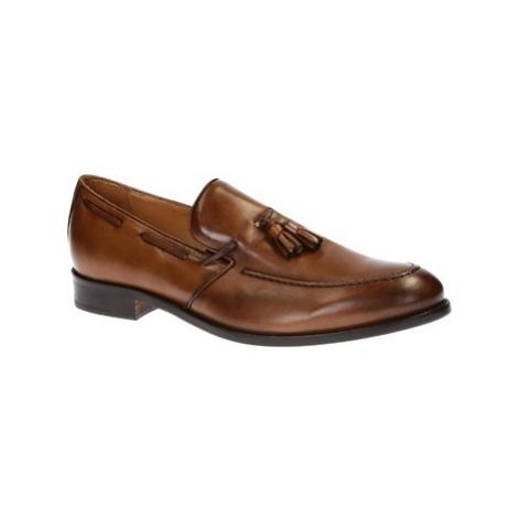 Leonardo Shoes 07013/FORMA 40 NAIROBI CUOIO Hnědá