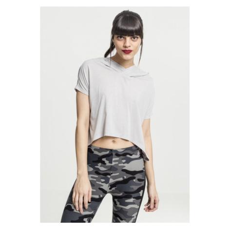 Ladies Short Viscose Hoody - grey Urban Classics