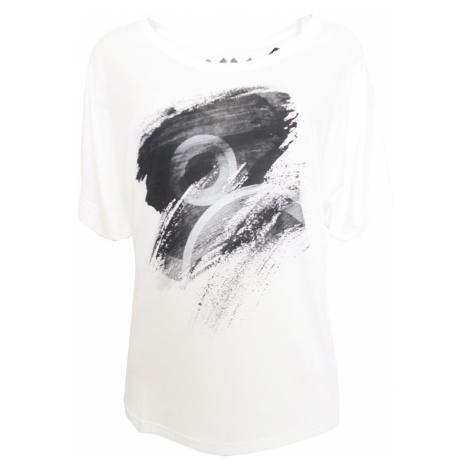 Bílé triko s černým potiskem Desigual