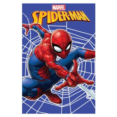 Dětská fleecová deka Spiderman web | dle fotky