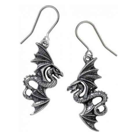 náušnice ALCHEMY GOTHIC - Flight of Airus - Pewter - E442